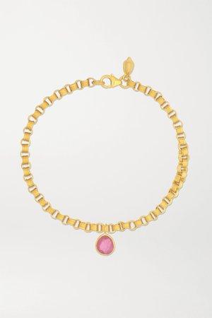 Gold 18-karat gold ruby bracelet | Pippa Small | NET-A-PORTER