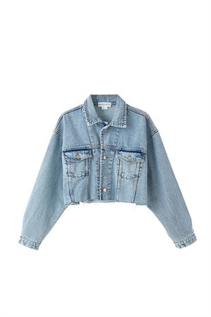 Light faded-effect denim cropped jacket - MissSixty