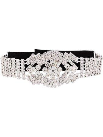 Manokhi rhinestone choker necklace black & silver SS20MANO248CHOKER - Farfetch