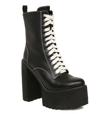 Current Mood Low Nancy Boots   Dolls Kill
