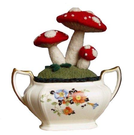 Wandering Lydia Mushroom Garden Sugar Bowl