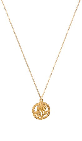 Natalie B Jewelry Rose Necklace in Gold | REVOLVE