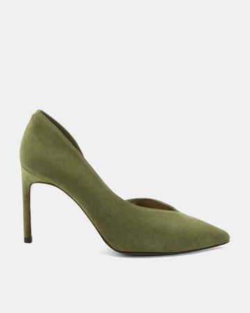 Suede court shoe - Green | Court Heels | Ted Baker UK