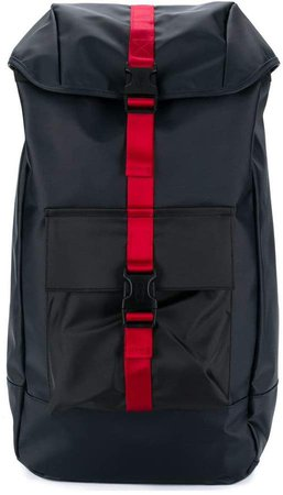 large backpack with contrasting buckle