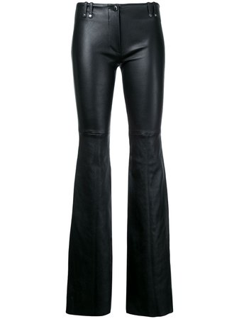 Plein, Sud flared leather trousers