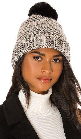 Frosty Faux Fur Pom Hat