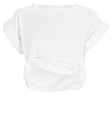 The Line by K Joseph Ruched Cropped T-Shirt | INTERMIX®