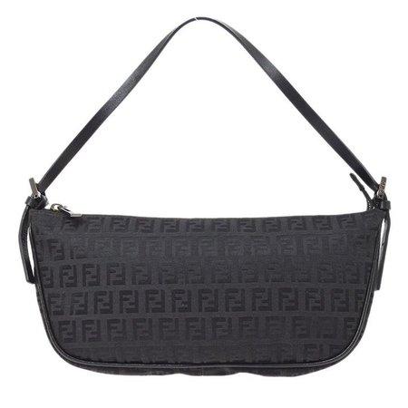 FENDI Zucchino Pattern Hand Bag Black – AMORE Vintage Tokyo