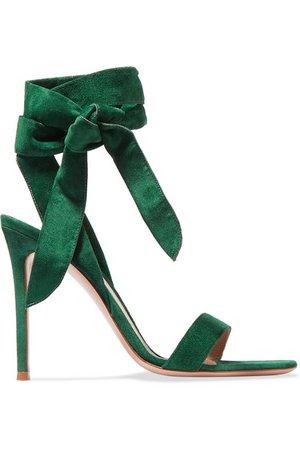 Gianvito Rossi | 105 suede sandals | NET-A-PORTER.COM