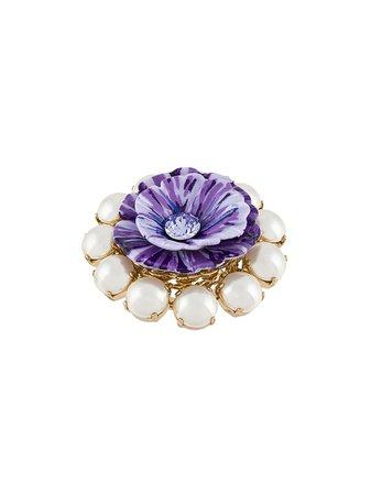 Dolce & Gabbana Floral Embellished Ring Ss20 | Farfetch.com