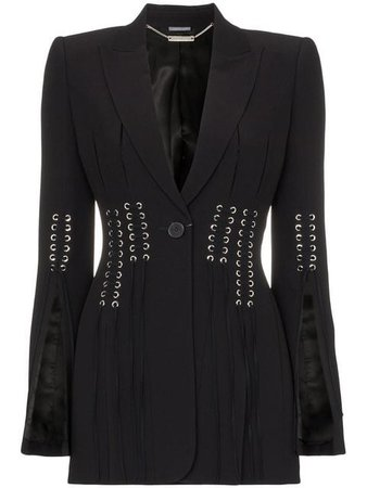 Alexander McQueen eyelet-detail fitted jacket $3,413 - Buy Online - Mobile Friendly, Fast Delivery, Price