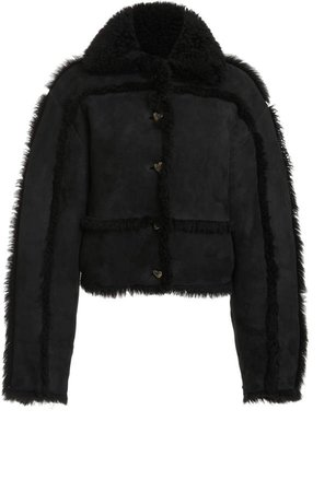 Saks Potts Kahlo Cropped Oversized Shearling Jacket