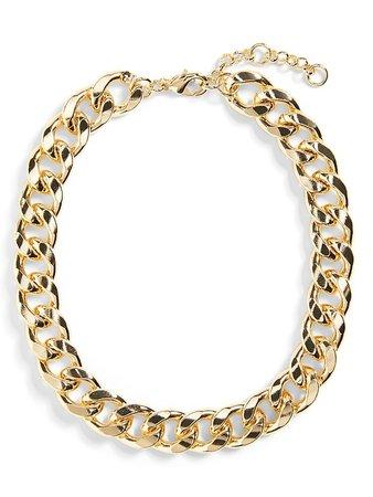 Curb Chain Choker Necklace | Banana Republic
