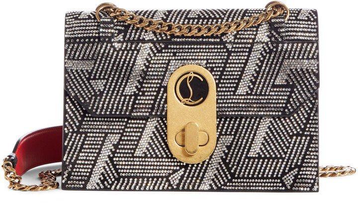 Small Elisa Embellished Leather Crossbody Bag