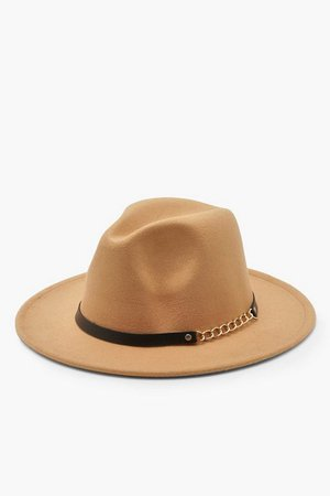 Chain Detail Fedora Hat | Boohoo