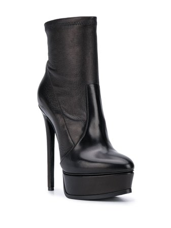 *clipped by @luci-her* black Casadei platform ankle boots
