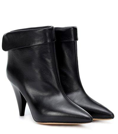 Lisbo Leather Ankle Boots - Isabel Marant | mytheresa.com