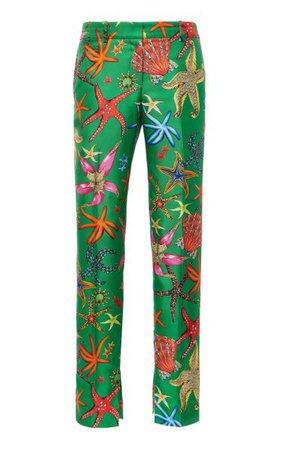 Printed Silk-Twill Straight-Leg Pants By Versace | Moda Operandi