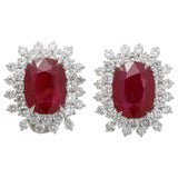Ruby and Diamond Earrings For Sale at 1stDibs
