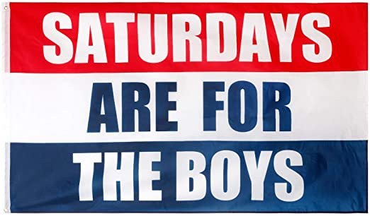Amazon.com : oxpecker Saturdays are Boys Flag, 3x5 Feet Saturdays Flag, Outdoor Indoor Dorm Room Decoration Banner for College Football Fraternities Party : Garden & Outdoor