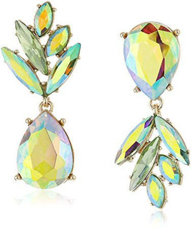 """Betsey Johnson """"Tropical Punch"""" Pineapple Mismatch Drop Earrings: Clothing"""