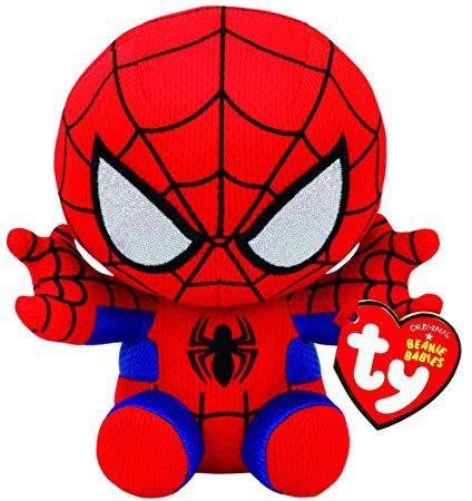 Ty Spiderman Plush, Red/blue, Regular: Toys & Games