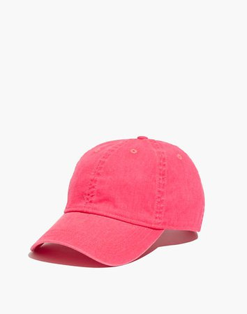 Canvas Baseball Cap in Faded Neon