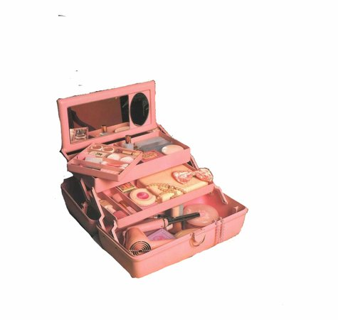 Pink Makeup Box Polyvore Moodboard Filler - Pink Vintage Retro Aesthetic   Transparent PNG Download #193111 - Vippng