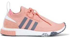 Nmd_racer Suede-trimmed Stretch-knit Sneakers