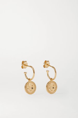 Gold Amulet Strength gold-plated sapphire earrings | Meadowlark | NET-A-PORTER
