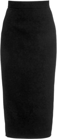 Alessandra Rich Light Wool Midi Skirt