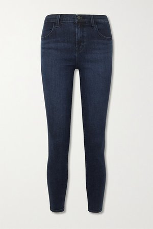 Alana Cropped High-rise Skinny Jeans - Dark denim