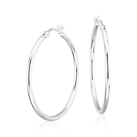 silver hoop earing