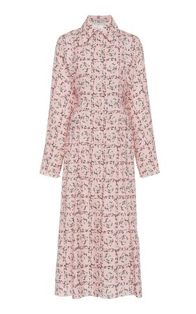 Oriana Floral Collared Poplin Shirt Dress by Emilia Wickstead   Moda Operandi