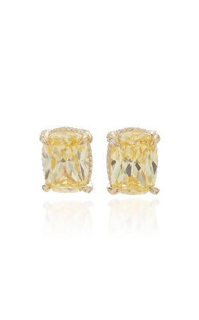 18K Gold Vermeil And Diamond Earrings by Anabela Chan | Moda Operandi
