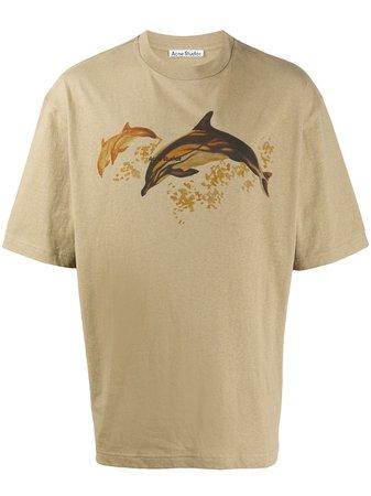 Acne Studios Dolphin Print T-shirt - Farfetch