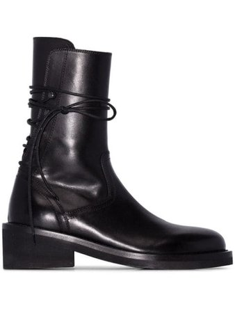 Ann Demeulemeester Lace-Up Ankle Boots 19142812366099 Black | Farfetch