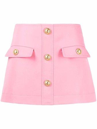Balmain logo-button Mini A-line Skirt