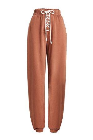 Lace-Up Cotton Sweatpants Gr. M