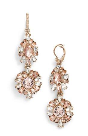 Marchesa Double Drop Crystal Earrings   Nordstrom