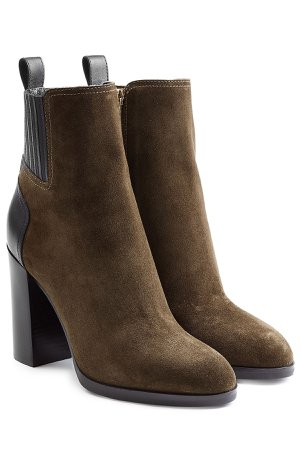 Suede Ankle Boots with Leather Gr. IT 38.5