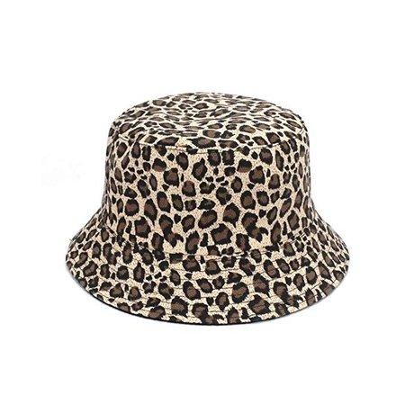 JUNHONGZHANG Women Leopard Print Bucket Caps Comfortable Foldable Bob Fishing Hat Girl Leopard Fisherman Cap White Polo Panama Caps,B: Amazon.co.uk: Sports & Outdoors