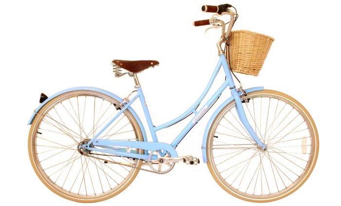 baby blue vintage bicycle