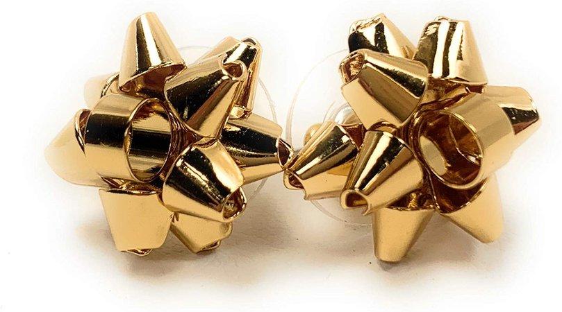 Amazon.com: Kate Spade Bourgeois Bow Stud Earrings, Silvertone: Jewelry