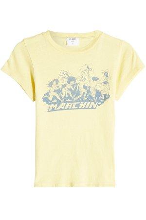 Printed Cotton T-Shirt Gr. L