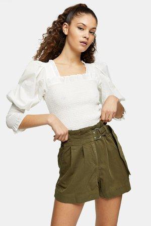 Khaki Utility Shorts