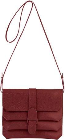 Mimosa Textured Leather Crossbody Bag