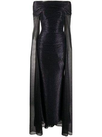 Talbot Runhof, bardot gown