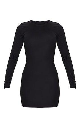 Black Long Sleeve Bodycon Dress   PrettyLittleThing USA
