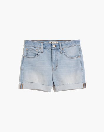 High-Rise Denim Shorts in Prescott Wash